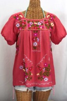 """La Belleza"" Gathered Sleeve Mexican Peasant Blouse"