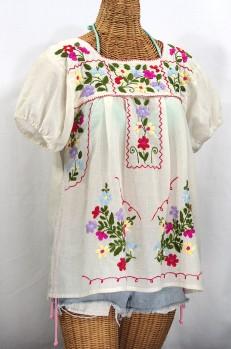 """La Belleza"" Mexican Blouse -Off White"