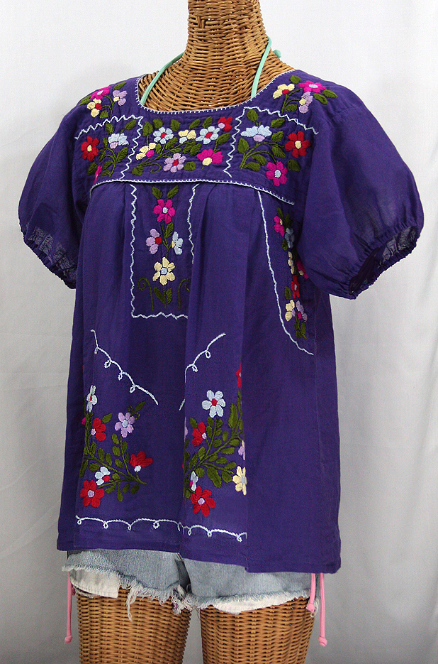 """La Belleza"" Mexican Blouse - Purple"
