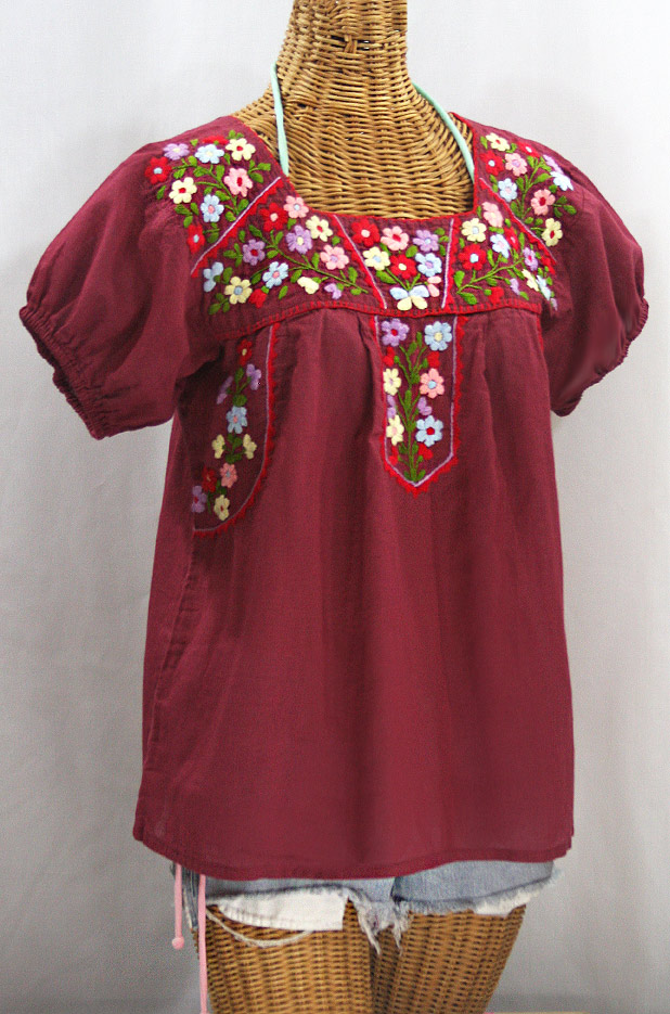 Embroidered Mexican Blouse Mexican Huipil Embroidered Mexican Top.