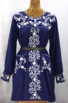 """La Bolsita"" Folkloric Tunic Embroidered Peasant Mini Dress"