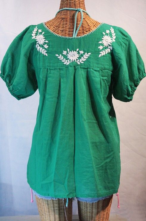 """La Favorita"" Embroidered Mexican Peasant Top/Blouse"