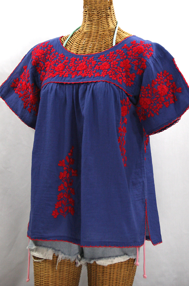 Mexican Blouses Hand Embroidered Vintage Style Peasant Tops Siren