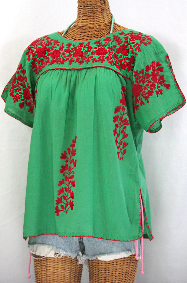 Quot la lijera embroidered peasant blouse mexican style
