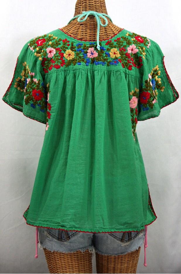 Green Peasant Blouse 85