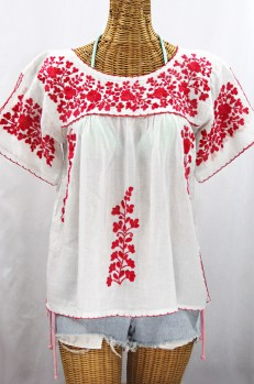 The La Lijera Split Sleeve Mexican Peasant Blouse Siren