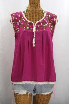 """La Marbrisa"" Sleeveless Mexican Blouse"