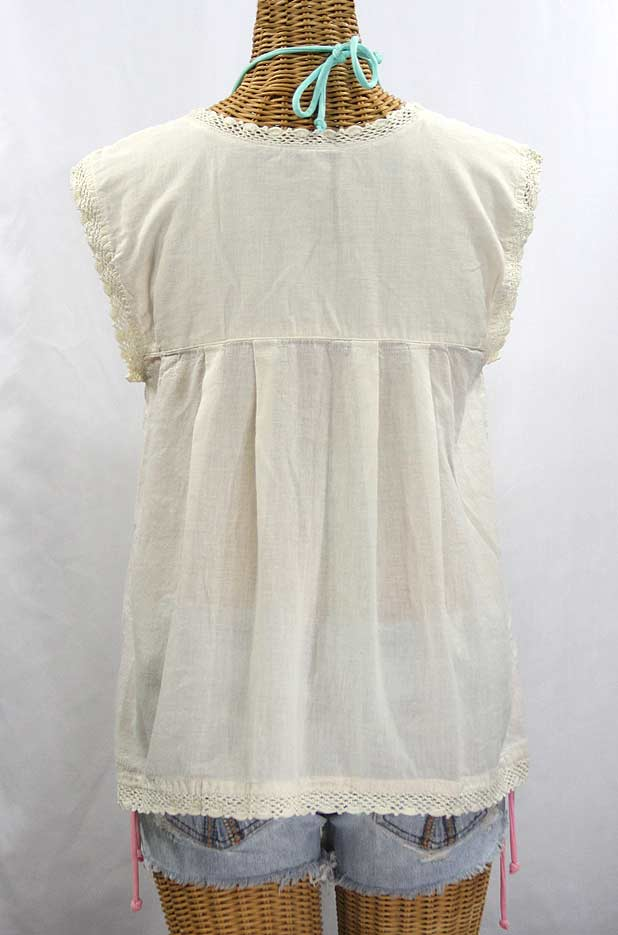 White Fitted Peasant Blouse 63