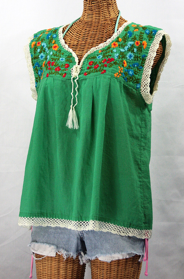 Quot la marbrisa embroidered mexican style peasant blouse top