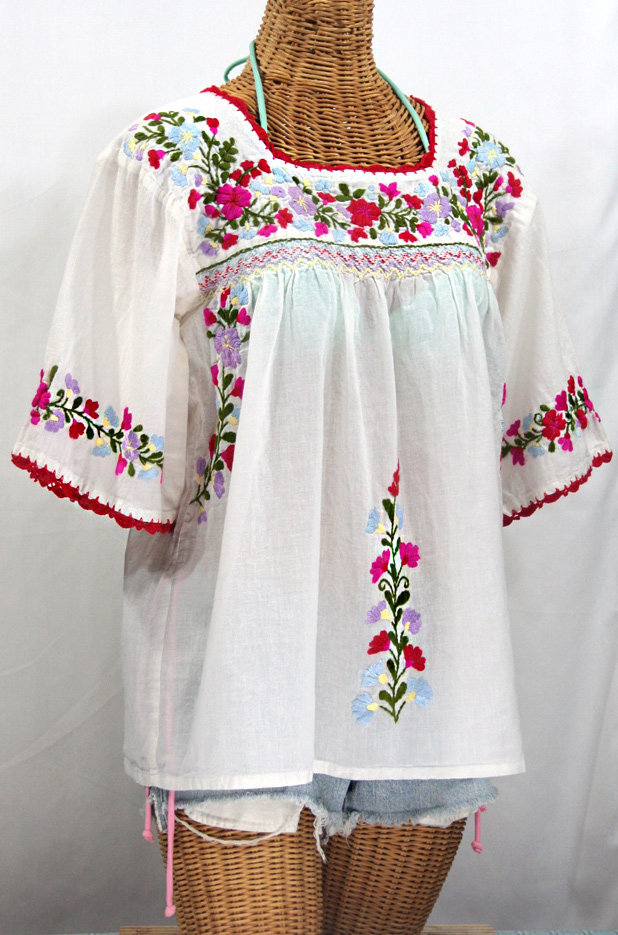 Cielito Lindo Tops - Handmade Authentic Mexican Embroidered Blouse