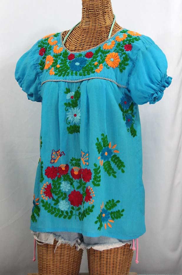 La Mariposa Corta De Color Embroidered Mexican Peasant Blouse