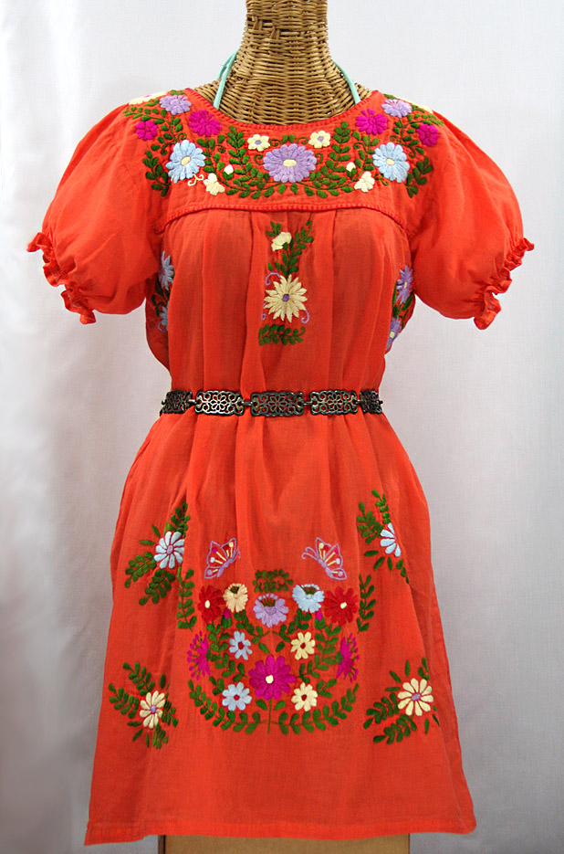 u0026quot la mariposa corta u0026quot  embroidered mexican dress
