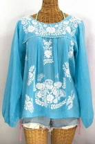 """La Mariposa Larga"" Long Sleeve Peasant Blouse"