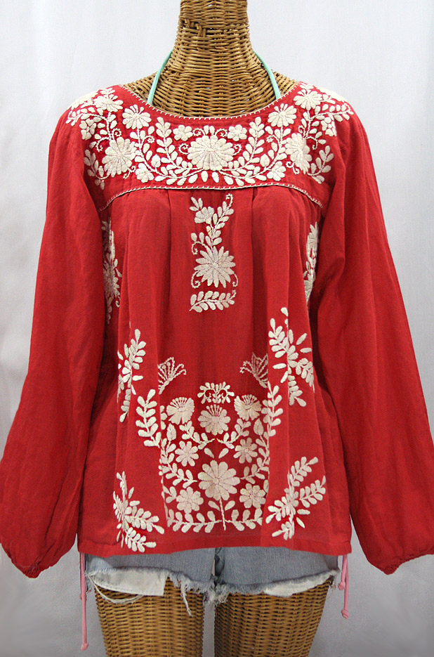 Innovative Womens Mexican Blouses  Silk Button Blouse