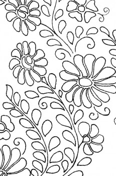 Siren Mexican Floral Yoke Embroidery Pattern