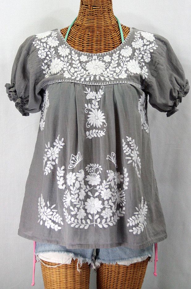 """La Mariposa Corta"" Embroidered Mexican Style Peasant Top ..."