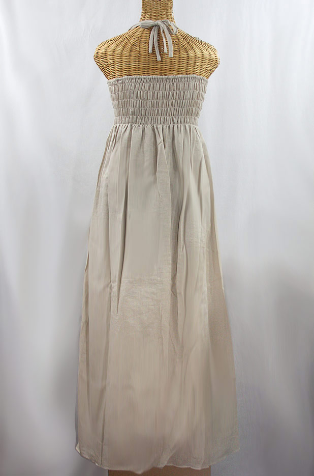 """60% Off Final Sale """"La Mallorca"""" Embroidered Maxi Dress with Lining - Greige + Fiesta"""