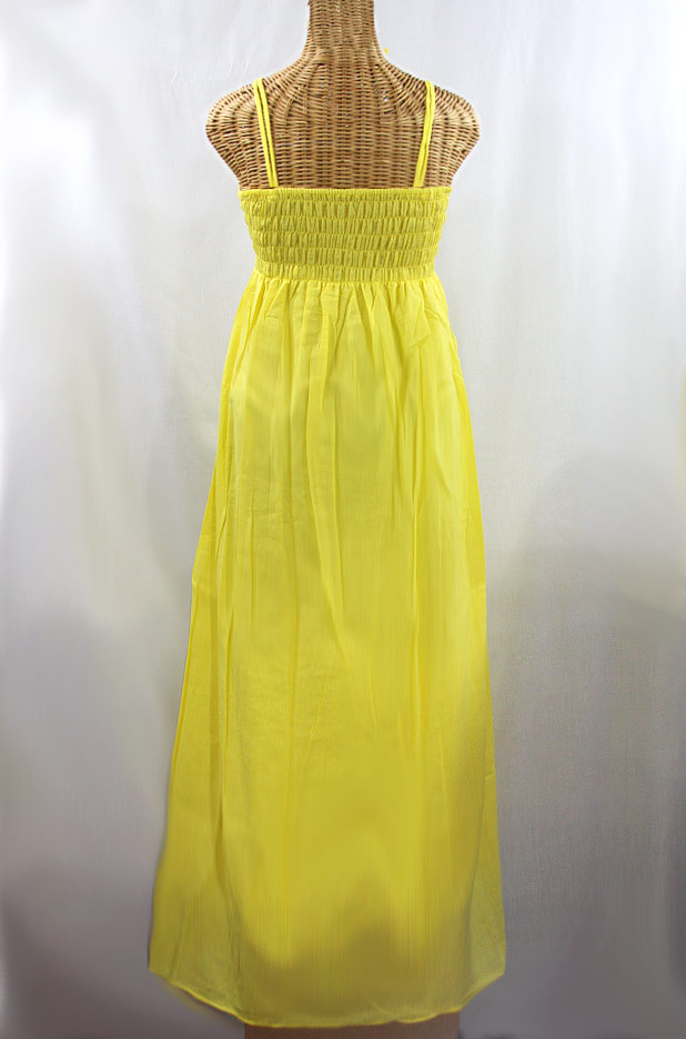 "60% Off Final Sale ""La Marbella"" Embroidered Maxi Dress with Lining - Yellow + Fiesta"