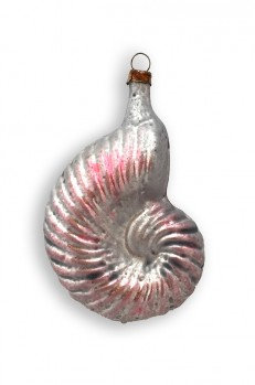 PInk Sea Shell Blown Glass Ornament