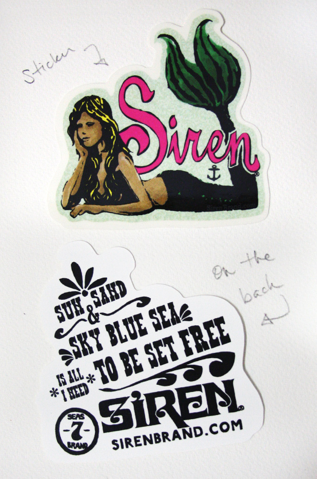Siren Mermaid Logo Sticker
