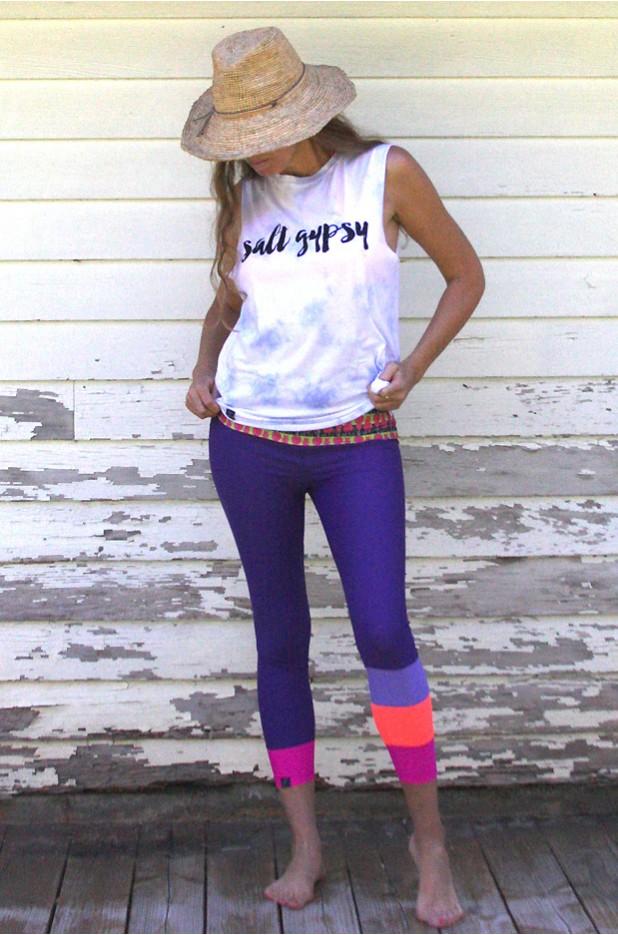 SIREN x Salt Gypsy Surf SUP Yoga Leggings - Grape Colada