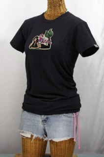 Siren Surf Mermaid Logo T-shirt: Black
