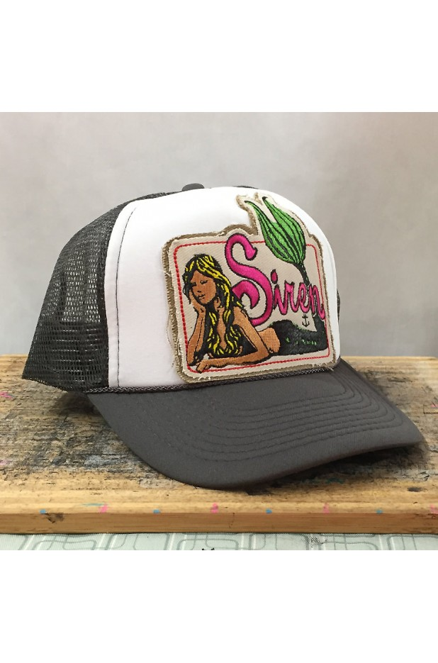 Trucker's Hat with Siren's Mermaid Logo Patch
