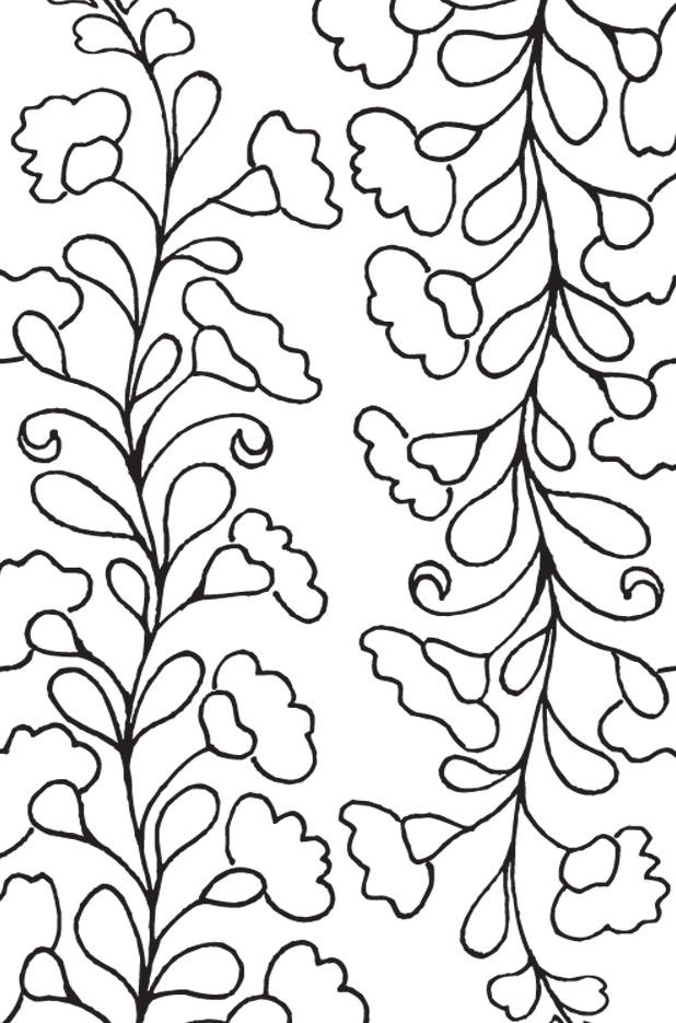 Siren Mexican Floral Embroidery Pattern - Detail 2