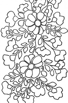 Siren Mexican Floral Embroidery Pattern - Detail 1