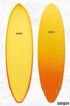 Siren Surf Rocket Quad Standup Paddle Surf Board: 9'