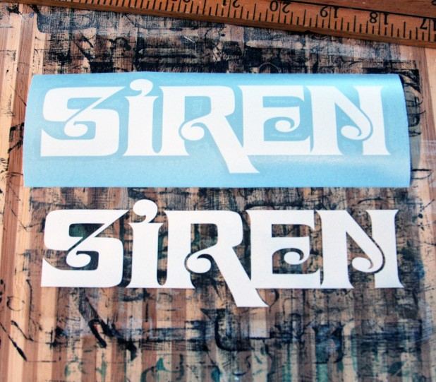 Siren Block Logo Die Cut Decal