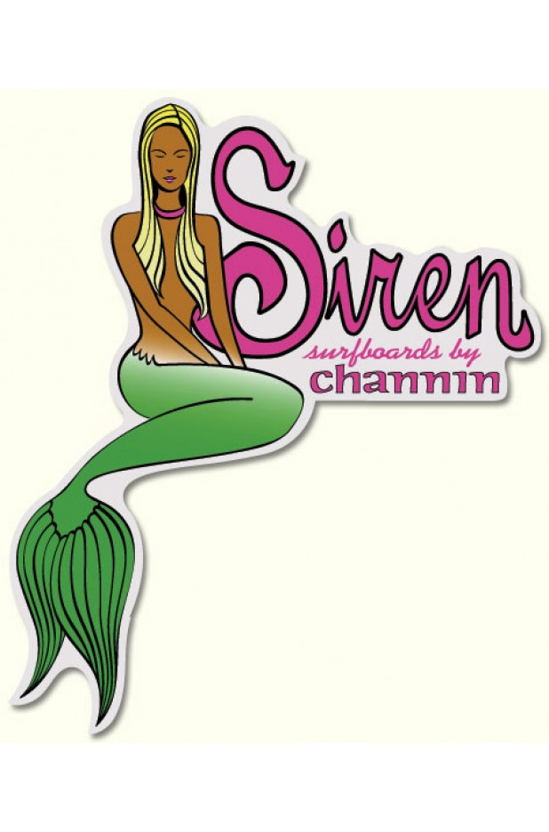"""Siren Surfboards by Channin"" Mermaid Sticker"