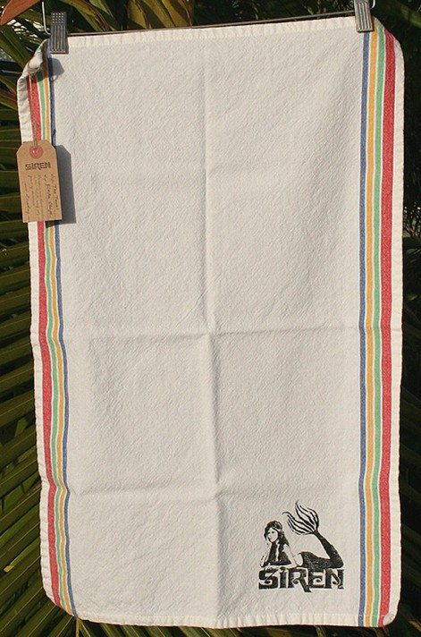 Siren Fiesta Stripe Tea Towel