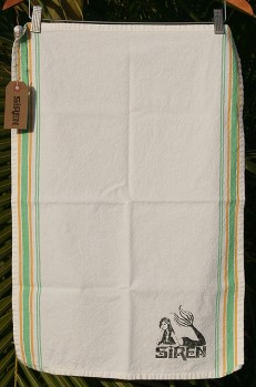 Siren Garden Stripe Tea Towel