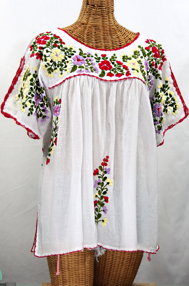 Plus Size Mexican Embroidered Blouses 119